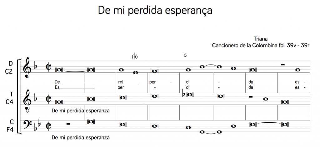 De mi perdida esperança (transcription)